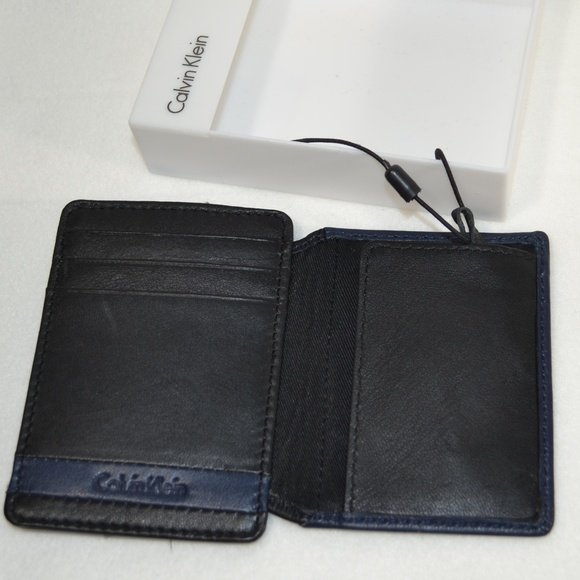 Calvin Klein Other - CALVIN KLEIN Leather Bifold ID Money Clic  Wallet